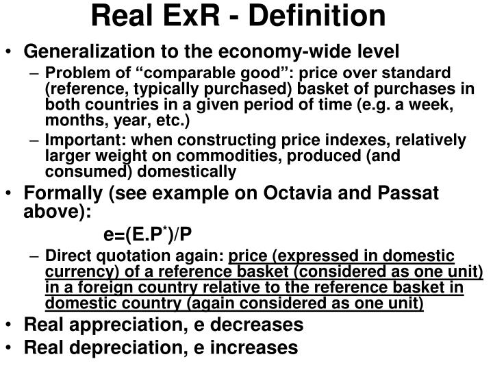 Real ExR - Definition