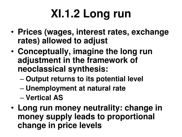 XI.1.2 Long run