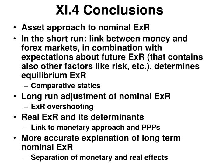 XI.4 Conclusions