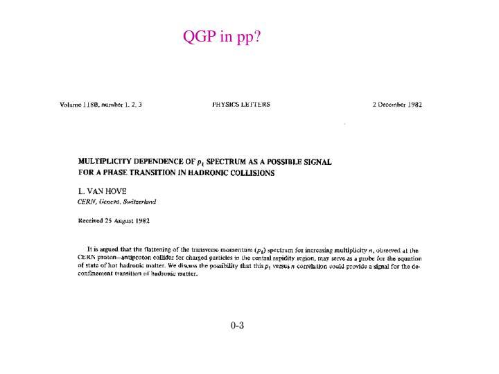 QGP in pp?