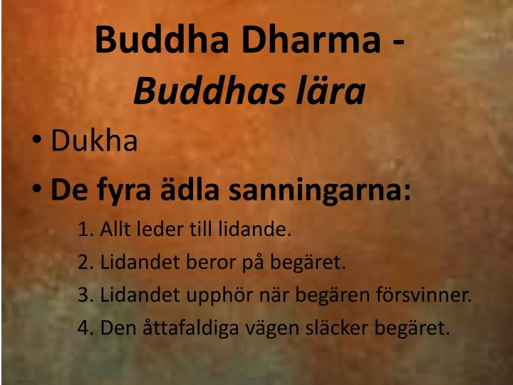 Buddha Dharma -