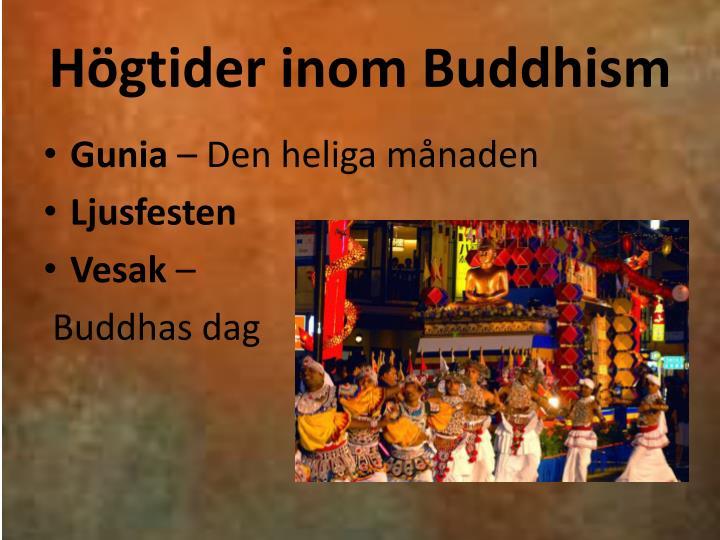 Högtider inom Buddhism