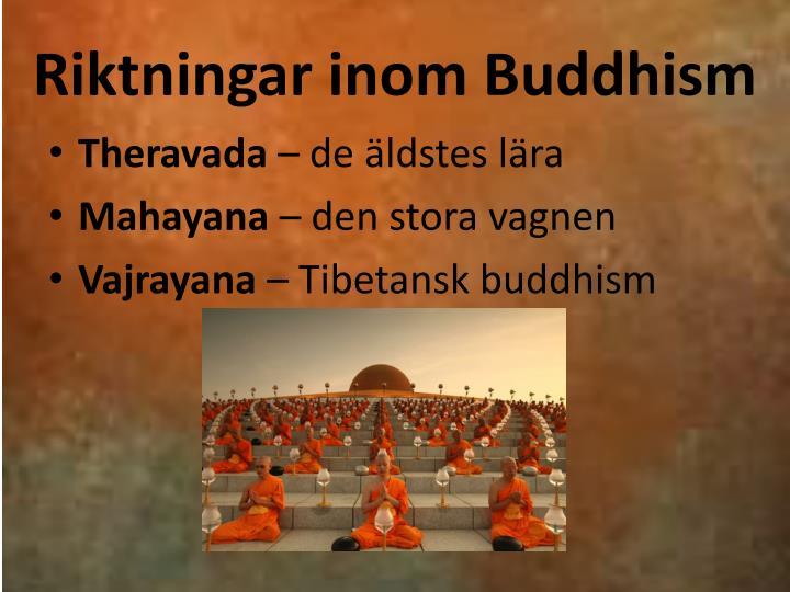 Riktningar inom Buddhism