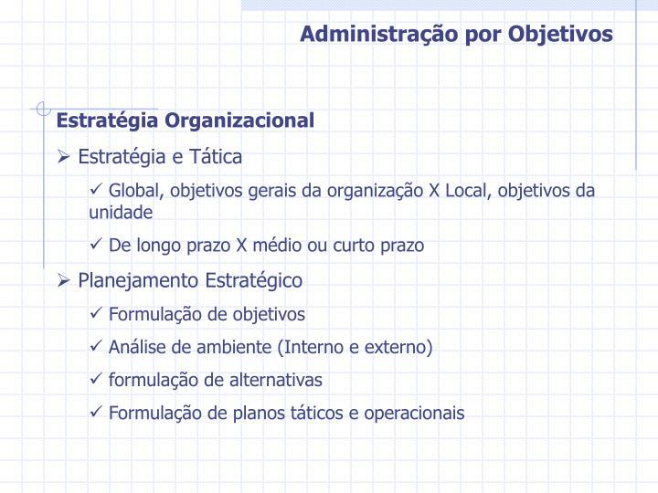 Administração por Objetivos