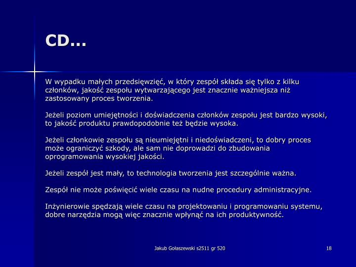 CD...