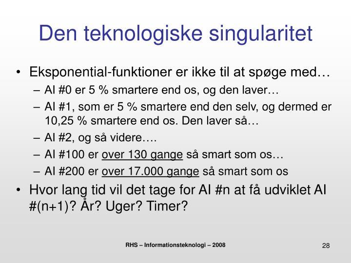 Den teknologiske singularitet