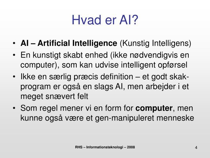 Hvad er AI?
