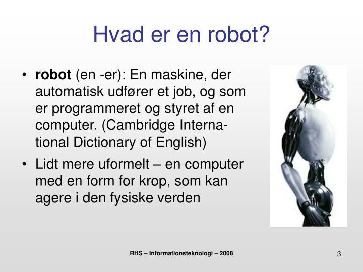 Hvad er en robot?