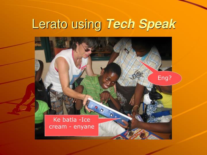 Lerato using
