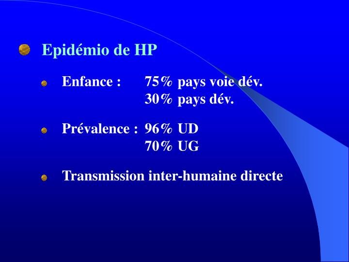 Epidémio de HP