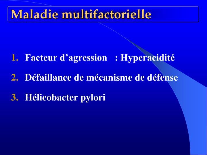 Maladie multifactorielle
