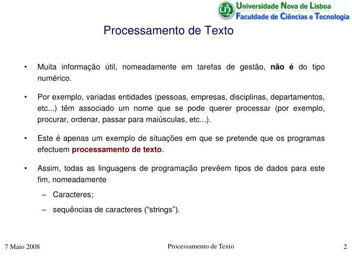 Processamento de Texto
