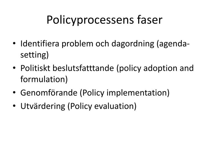 Policyprocessens