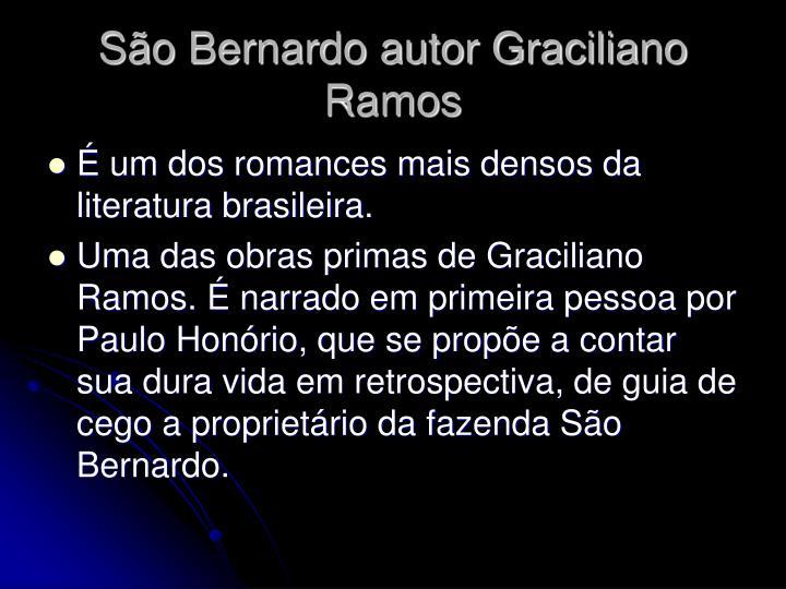 So Bernardo autor Graciliano Ramos