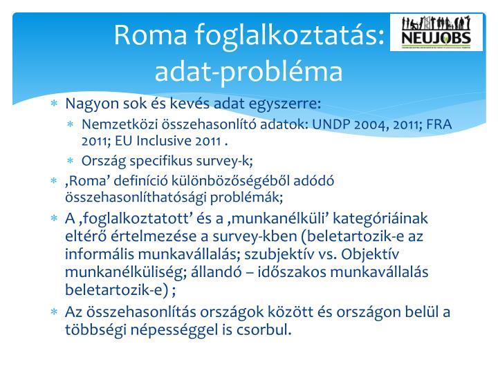 Roma foglalkoztatás:
