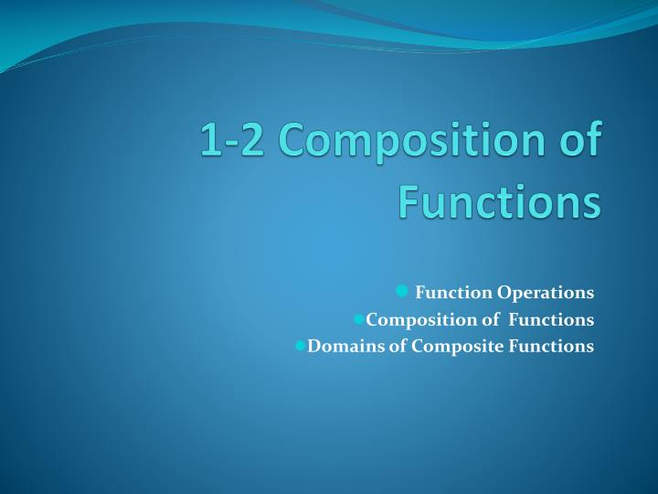 1 2 composition of functions