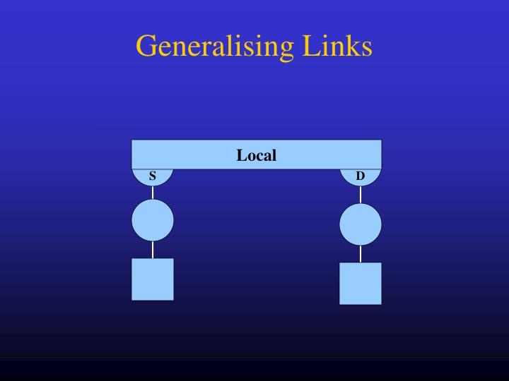 Generalising Links