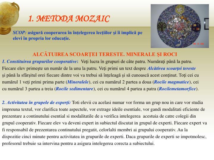 1. METODA MOZAIC