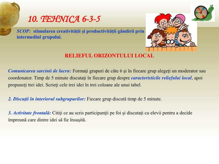 10. TEHNICA 6-3-5