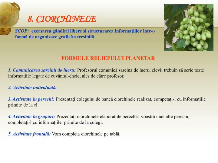 8. CIORCHINELE