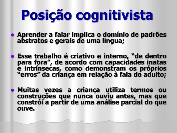 Posição cognitivista