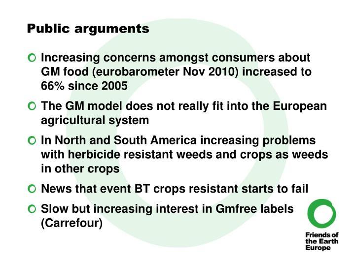 Public arguments