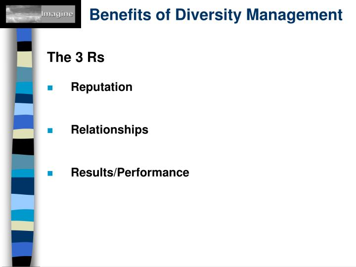 Benefits of Diversity Management