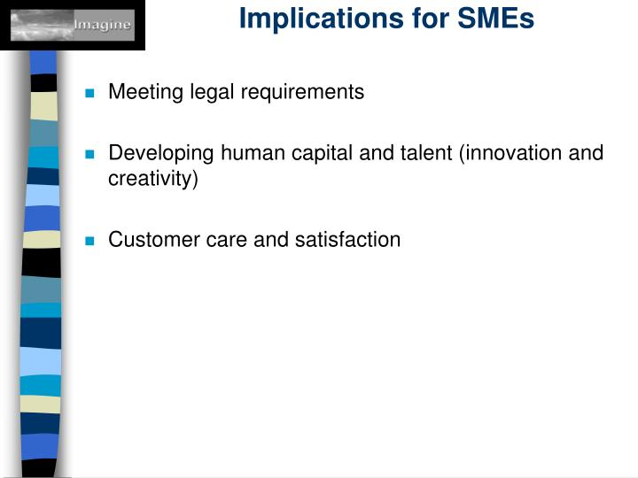 Implications for SMEs