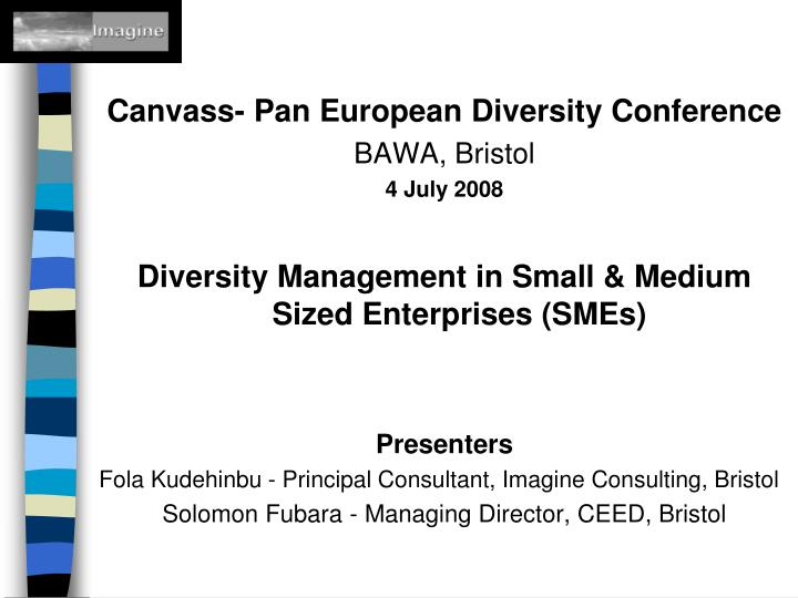 Canvass- Pan European Diversity Conference