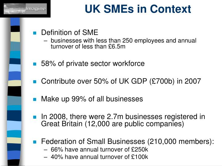 Uk smes in context