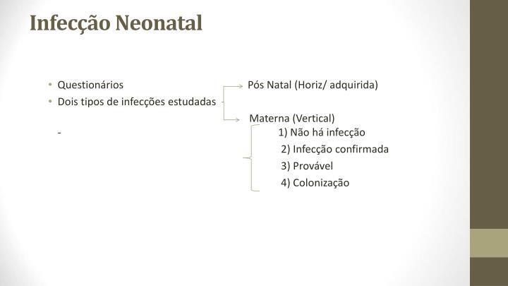 Infecção Neonatal