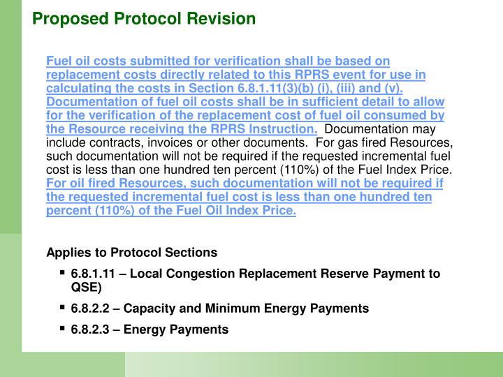 Proposed Protocol Revision