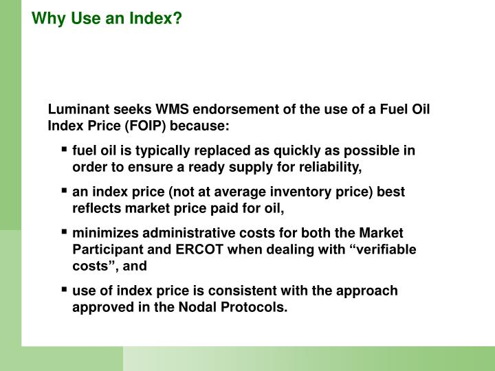 Why Use an Index?