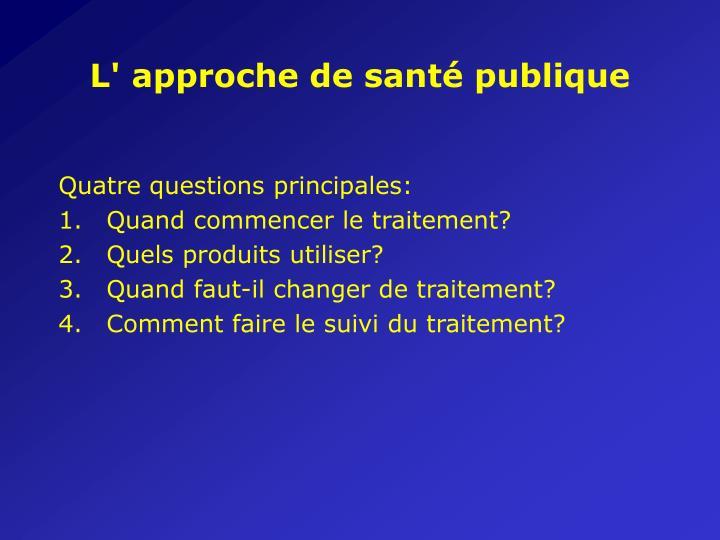 L' approche de santé publique