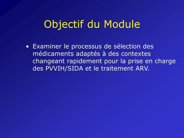 Objectif du Module