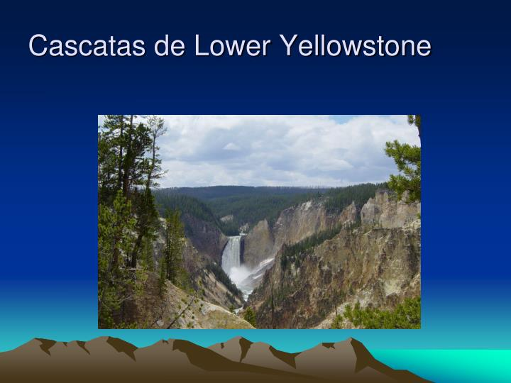 Cascatas de Lower Yellowstone