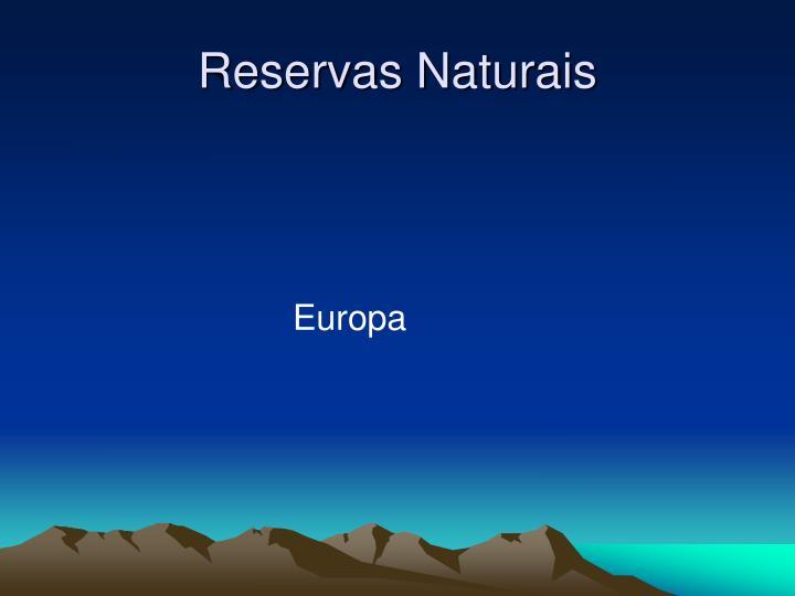 Reservas Naturais