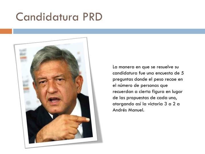 Candidatura PRD