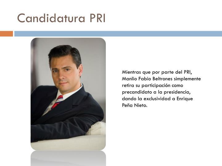 Candidatura PRI