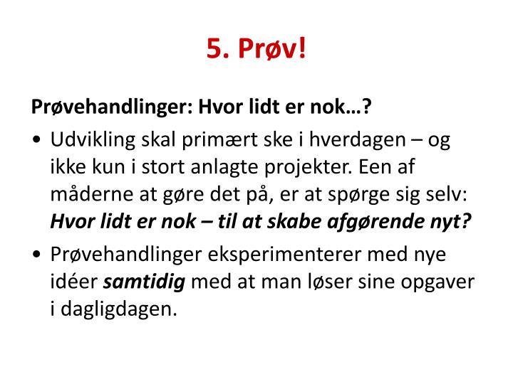 5. Prøv!