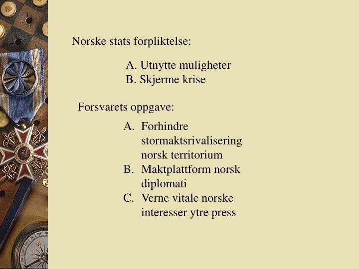 Norske stats forpliktelse: