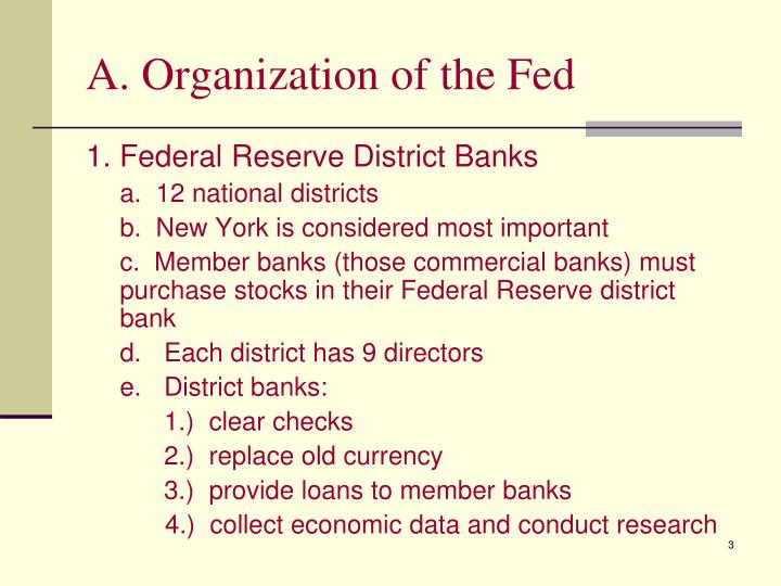 A organization of the fed