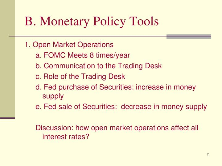 B. Monetary Policy Tools