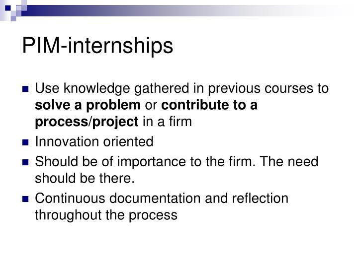 PIM-internships