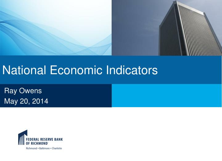 National economic indicators