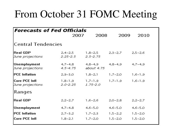 From October 31 FOMC Meeting