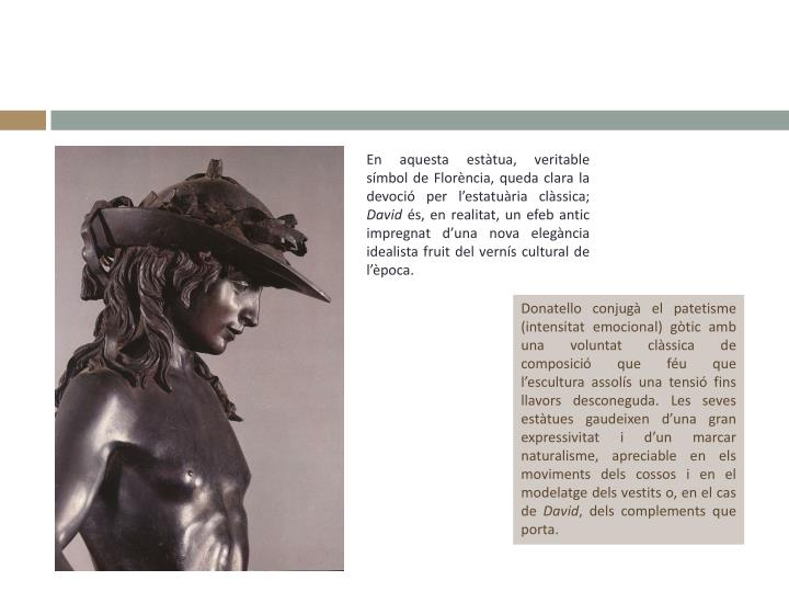En aquesta estàtua, veritable símbol de Florència, queda clara la devoció per l