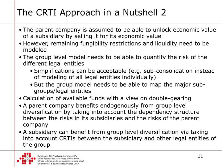 The CRTI Approach in a Nutshell 2