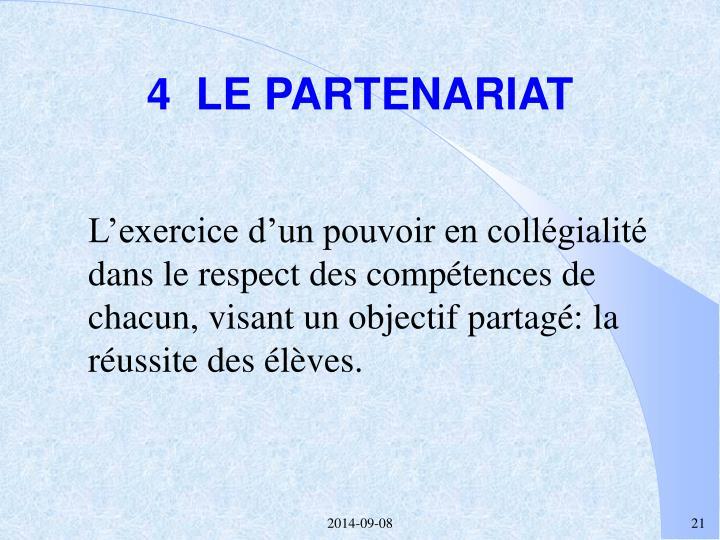 4  LE PARTENARIAT