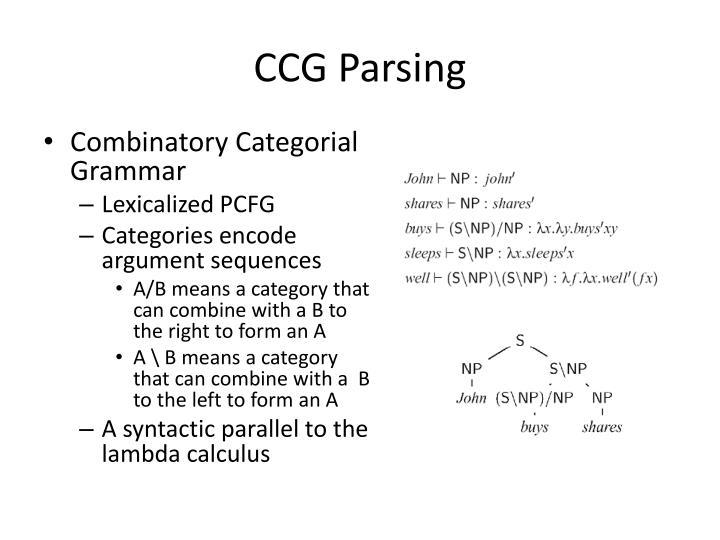 CCG Parsing